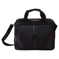 """Сумка деловая BRAUBERG """"Business"""", 32х41х15 см, отделение для планшета и ноутбука 15,6"""", ткань, черная, 240389"""