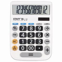 Калькулятор настольный STAFF PLUS DC-999-12 (194x136 мм), 12 разрядов, двойное питание, БОЛЬШИЕ КНОПКИ, 250425.