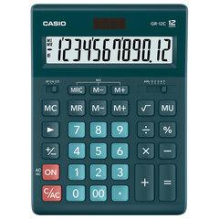 Калькулятор настольный CASIO GR-12С-DG (210х155 мм), 12 разрядов, двойное питание, ТЕМНО-ЗЕЛЕНЫЙ