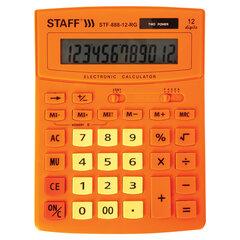 Калькулятор настольный STAFF STF-888-12-RG (200х150 мм) 12 разрядов, двойное питание, ОРАНЖЕВЫЙ, 250453