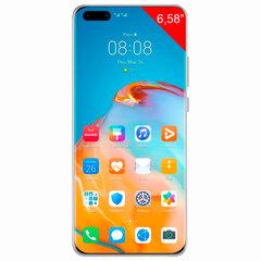 "Смартфон HUAWEI P40 Pro, 2 SIM, 6,58"", 4G (LTE), 50/32 + 40 + 12, 256 ГБ, серебристый, металл"