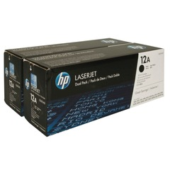 Картридж лазерный HP (Q2612AF) LaserJet 1018/1020/3052/М1005, КОМПЛЕКТ 2 шт., оригинальный, ресурс 2х2000 страниц