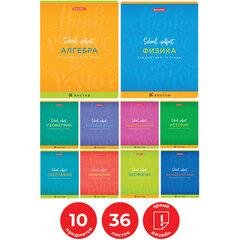 Тетради предметные, КОМПЛЕКТ 10 ПРЕДМЕТОВ, ПАЛИТРА ЗНАНИЙ, 36 листов, BRAUBERG, 403558