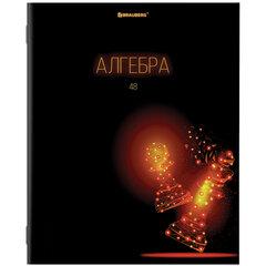 Тетрадь предметная DARK 48 листов, глянцевый лак, АЛГЕБРА, клетка, подсказ, BRAUBERG, 403966