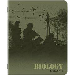 Тетрадь предметная MILITARY 48 листов, SoftTouch, 70г/м, БИОЛОГИЯ, клетка, подсказ, BRAUBERG, 404005