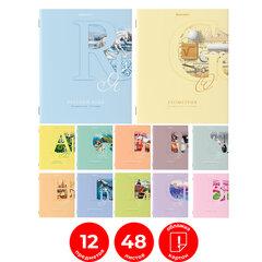 Тетради предметные, КОМПЛЕКТ 12 ПРЕДМЕТОВ, ПАСТЕЛЬНАЯ, 48 листов, обложка картон, BRAUBERG, 404026