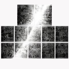 """Тетради предметные, КОМПЛЕКТ 12 ПРЕДМЕТОВ, """"SILVER"""", 48 листов, с серебряной обложкой, BRAUBERG, 404034"""