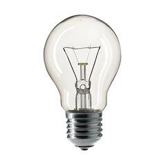 Лампа накаливания PHILIPS A55 CL E27, 75 Вт, грушевидная, прозрачная, колба d = 55 мм, цоколь E27, 354594