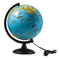 Глобус зоогеографический, диаметр 250 мм, с подсветкой, 10370