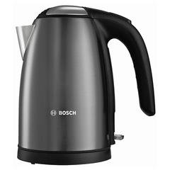 Чайник BOSCH TWK7805, 1,7 л, 2200 Вт, закрытый нагревательный элемент, нержавеющая сталь, черный
