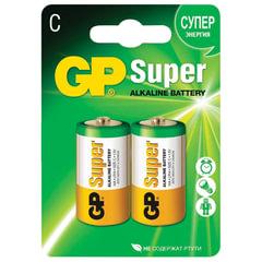 Батарейки GP Super, С (LR14, 14А), алкалиновые, комплект 2 шт., в блистере, 14A-2CR2