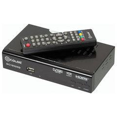 Приставка для цифрового ТВ DVB-T2 D-COLOR DC1002HD RCA, HDMI, USB, дисплей, пульт ДУ