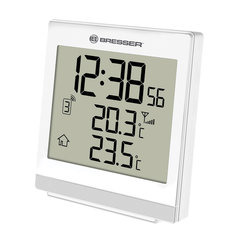 Метеостанция BRESSER TemeoTrend SQ, термодатчик, часы, будильник, белый, 73264