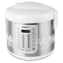 Мультиварка SCARLETT SC-MC410S21, 900 Вт, 5 л, 30 программ, выпечка, белая/серебро