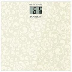 Весы напольные SCARLETT SC-BS33E043, электронные, вес до 180 кг, квадрат, стекло, серые