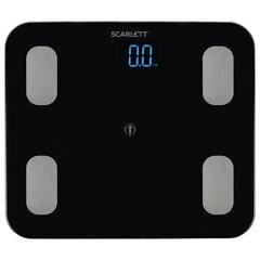 Весы напольные диагностические SCARLETT SC-BS33ED46, электронные, вес до 150 кг, Bluetooth, черные