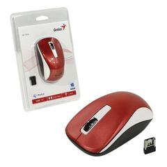 Мышь беспроводная GENIUS NX-7010, 2 кнопки + 1 колесо-кнопка, оптическая, бело-красная, 31030114111
