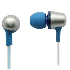 Наушники с микрофоном (гарнитура) вкладыши SVEN SEB-190M, провод 1,2 м, белые с синим, SV-013042