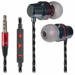 Наушники с микрофоном (гарнитура) вкладыши DEFENDER Tanto, проводные, 1,2 м, вкладыши, черные с серым