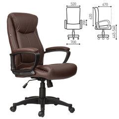 """Кресло офисное BRABIX """"Enter EX-511"""", экокожа, коричневое, 531163"""