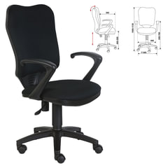 Кресло CH-540AXSN, с подлокотниками, черное