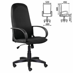 """Кресло офисное BRABIX """"Praktik EX-279"""", ткань JP/кожзам, черное, 532019"""