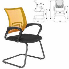 """Кресло для приемных и переговорных BRABIX """"Fly CF-100"""", оранжевое/черное, 532088"""