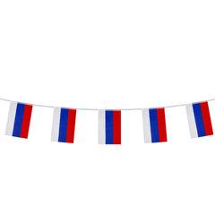 Гирлянда из флагов России, длина 5 м, 10 прямоугольных флажков 20х30 см, BRAUBERG, 550185