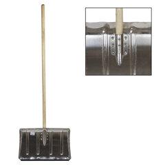 Лопата снегоуборочная алюминиевая, 50х33 см, высота 130 см, усиленнная, деревянный черенок, ЛТСЕ