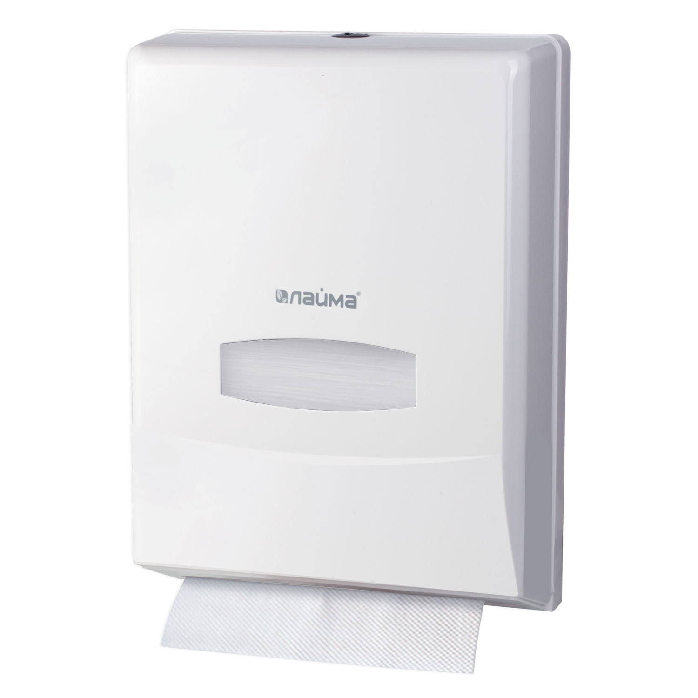 Диспенсер для полотенец LAIMA PROFESSIONAL (Система H2) Interfold, белый, ABS-пластик, 601425
