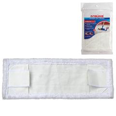 Насадка МОП плоская для швабры/держателя 40 см, уши/карманы (ТИП У/К), микрофибра, упаковка, ЛАЙМА, 601479