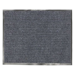 Коврик входной ворсовый влаго-грязезащитный, 120х150 см, толщина 7 мм, серый, VORTEX, 22099