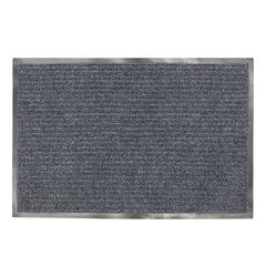 Коврик входной ворcовый влаго-грязезащитный LAIMA, 90х120 см, ребристый, толщина 7 мм, серый, 602872