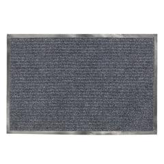 Коврик входной ворсовый влаго-грязезащитный LAIMA, 120х150 см, ребристый, толщина 7 мм, серый, 602875