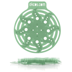 """Коврики-вставки для писсуара, ЭКОС (POWER-SCREEN), на 30 дней каждый, комплект 2 шт., аромат """"Сосна"""", цвет зеленый"""