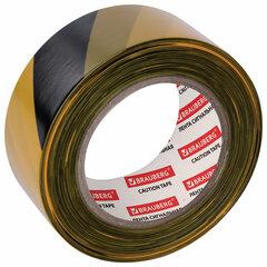 """Лента сигнальная желто-черная, 50 мм х 200 м, BRAUBERG """"Грандмастер"""", основа полиэтилен, 604891"""