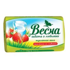 "Мыло туалетное 90 г ВЕСНА ""Земляника со сливками"", ГОСТ, 6090"