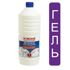 Средство для отбеливания, дезинфекции и уборки 1 л, БЕЛИЗНА-ГЕЛЬ (хлора 15-30%), ЛАЙМА PROFESSIONAL, 605378