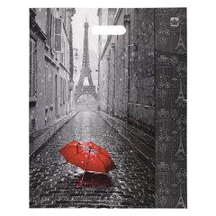 """Пакет с вырубной ручкой ПВД, 45х38 см, """"Мой Париж"""", 60 мкм"""