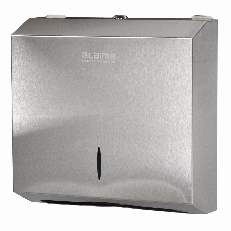 Диспенсер для полотенец LAIMA PROFESSIONAL INOX, (Система H2) Interfold, нержавеющая сталь, матовый, 605694