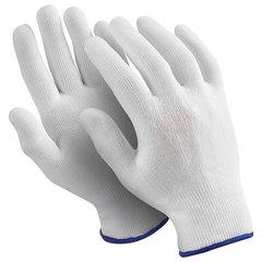 "Перчатки нейлоновые MANIPULA ""Микрон"", КОМПЛЕКТ 10 пар, размер 9 (L), белые, TNY-24/MG-101"