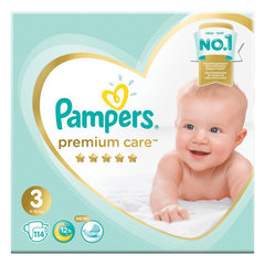 "Подгузники, 114 шт., PAMPERS (Памперс) ""Premium Care"", размер 3 (6-10 кг)"
