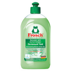 """Средство для мытья посуды 500 мл FROSCH """"Зеленый чай"""" (Германия), бальзам, защита кожи рук, ЭКО, пуш-пул"""