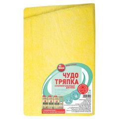 Тряпка для мытья пола, 50х70 см, вискоза (ИПП), 185 г/м2, СУПЕРВПИТЫВАЮЩАЯ, желтая, BAGI