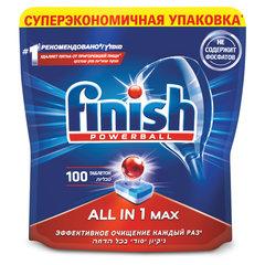 """Таблетки для мытья посуды в посудомоечных машинах 100 шт., FINISH """"All in 1"""""""