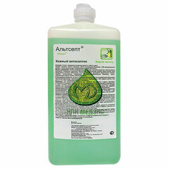 Антисептик для рук и поверхностей спиртосодержащий (70%) 1л АЛЬТСЕПТ, дезинфицирующий, жидкость