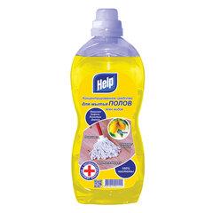 """Средство для мытья пола с антибактериальным эффектом 1 л HELP """"Лимон"""", универсальное"""