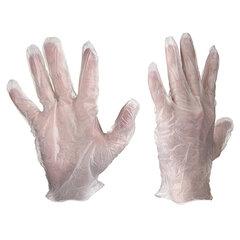 Перчатки виниловые, КОМПЛЕКТ 5 пар (10 шт.), неопудренные, размер M (средний), белые, PACLAN, 407540