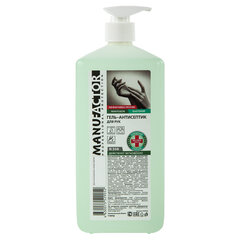 Антисептик-гель для рук (спирт более 70%) 1 л MANUFACTOR, дезинфицирующий, дозатор