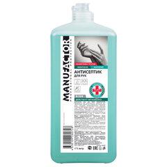 Антисептик для рук спиртосодержащий (спирт 66%-70%) 1 л MANUFACTOR, дезинфицирующий, жидкость, флип-топ